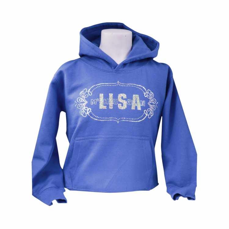 Lisa McHugh kid hoodies blue