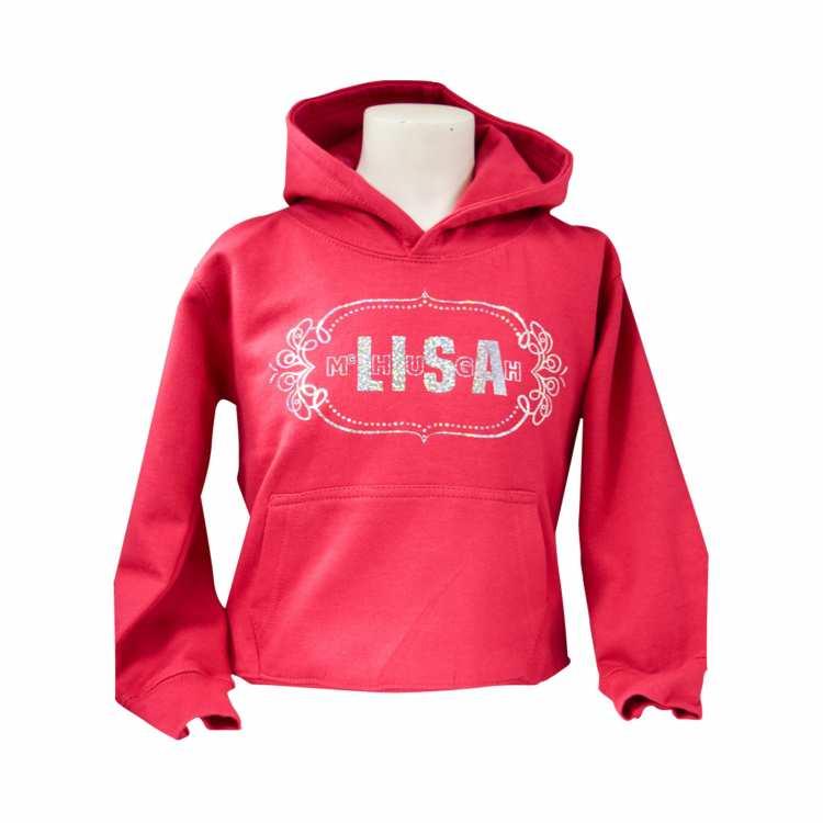 Lisa McHugh kid hoodies red