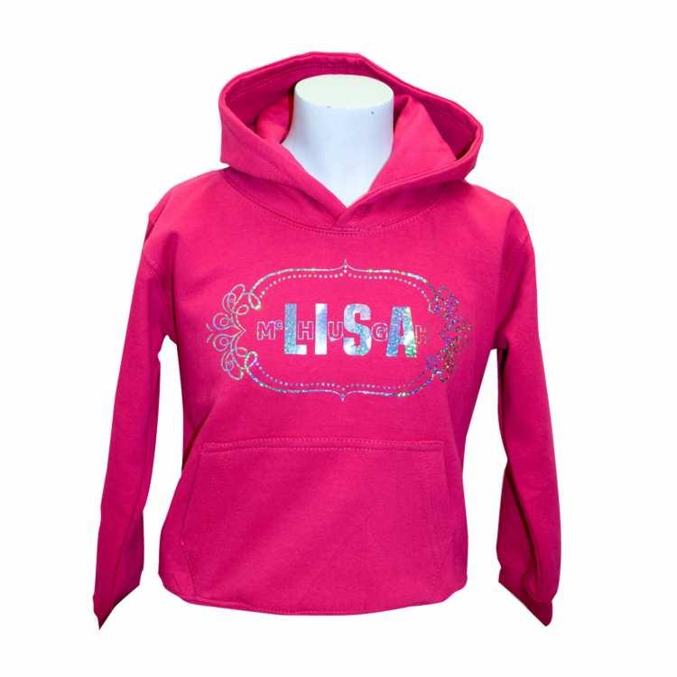 Lisa McHugh kid hoodies pink